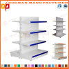 Stand personnalisé 4 par rangées de présentoir de côté de double en métal de supermarché (Zhs518)