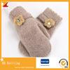 花の冬の女性のウールの柔らかく暖かい手袋