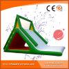 Einfaches aufblasbares grünes und weißes Farben-Plättchen (T11-205)
