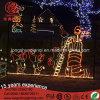 Lampadaire à LED animé et feux à motifs pour décoration de Noël en plein air