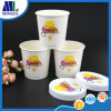Papel disponible impreso aduana de helado cubierto con las tazas del PE con las tapas de papel