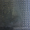 Черная серебряная кожа крокодила Faux