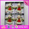 2076 poupées en bois de Noël de bébé en gros, poupées en bois de Noël de beaux gosses, poupées en bois W02A218 de Noël de dessin animé