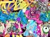 2017 Wall Art Nueva cómico de Pintura Decoración Aceite
