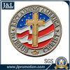 주물 아연 합금 2 음색 도금 금속 동전 미국 깃발을 정지하십시오