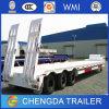 Tri rimorchio di Lowboy di uso del rimorchio del camion degli assi 60ton da vendere