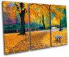 黄色は景色映像のキャンバスの絵画を残す
