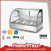 Витрина грелки еды/изогнутое стекло грея грелку Hw-838-3 Displayer /Stainless стальную
