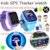Montre imperméable à l'eau de traqueur des gosses GPS avec l'écran tactile coloré (D25)