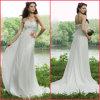 Vestido de casamento formal nupcial do império do vestido das flores Chiffon Strapless (H004)