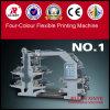 Machine d'impression flexible de couleur de la qualité quatre