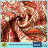 Напечатанное закрученное лето женщин ткани рейона Viscose одевает ткань