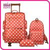 Мешки перемещения померанцового багажа типа многоточий польки установленные продолжают, котор катят чемоданы Tote Duffle