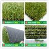 フットボール競技場の草、人工的な泥炭を美化する緑の裏付け