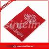 O melhor Price Woven Label com Red Background White Logo para Woven Clothing