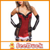 クリスマスChemise Naughty Honeymoon Lingerie Black MeshおよびRed Sequin Chemise Women Sexy Babydolls Chemises Ksu3227