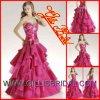 A dama de honra perlada do vestido de esfera de Organza da forma querido feito sob encomenda veste o vestido de casamento do vestido de noite vendido por Gillis Nupcial Co., Ltd.