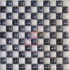 Blanco Mezcla Azul mosaico de cerámica (CST085)