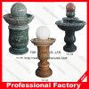Fontaine d'eau de boule de globe de granit de roulis