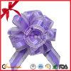 Arqueamiento púrpura del tirón de la cinta del Organza de la decoración del regalo de boda