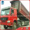 정면 드는 8*4-LHD-Steering 빨강 녹색 사용된 18cbm/30~40ton Euro3 Ce/SGS HOWO 덤프 트럭
