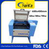 Máquina de vidrio acrílico de papel de madera de goma de CO2 de grabado láser Mini
