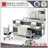 금속 기본적인 사무실 분할 판매 (NS-PT031)를 위한 나무로 되는 워크 스테이션 4 시트 사무실 책상