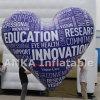 LED Hinauftreiben von Aktienkursen aufblasbaren Belüftung-materiellen Inner-Ballon