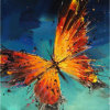 Home Decor Kids部屋のためのDafen 100%Handmade Abstract Wall Art Painting Butterfly Picture Hang Oil Paintings