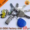 최신 열쇠 고리 훅 OTG 이동할 수 있는 이중 USB Pendrive (YT-3291L1)