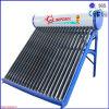 Calefator de água solar compato da pressão de câmara de ar de vácuo da tubulação de calor