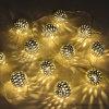 12 luci leggiadramente della stringa della sfera solare del LED