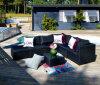 Insieme di vimini del sofà del salotto del rattan del giardino della mobilia del patio della resina