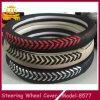 Tampas de roda de couro de venda Handmade da direção da tira boas