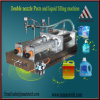 Máquina de rellenar del champú líquido principal doble