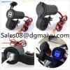 Wasserdichte Motorrad Dual USB Kfz-Ladegerät mit Halterung