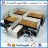 4 People를 위한 유행 Wooden Parition Office Workstation
