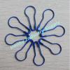 Ocean Blue de color en forma de pera Tag Cuelgue Pin de seguridad ( P150722A )