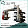 Machine van de Druk van de Hoge snelheid van zes Kleur de Plastic