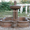 Fontaine d'eau en pierre de marbre de sculpture en Brown (SY-F024)