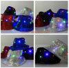 Chapéu do Fedora do diodo emissor de luz do Sequin com luz de 6 diodos emissores de luz para o feriado e o partido