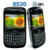 8520 Doppel-SIM Java Fernsehapparat-QWERTYtastatur-Handy Viererkabel-Band G-/M