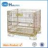 鋼鉄スタック可能Foldable金属の倉庫の金網の容器