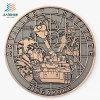 La pressofusione che il bronzo in lega di zinco ha annunciato la moneta del ricordo del metallo del medaglione della polizia nell'abitudine
