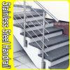 Balaustre lateral de acero de interior de Railling de la escalera del montaje de Stainlless