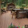 Tarjetas de suelo plásticas de madera baratas de la madera dura casera de WPC