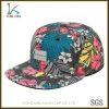 習慣によって編まれるラベルのロゴの卸売が付いている花の印刷されたスナップの帽子
