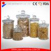 Choc en verre de mise en boîte clair de cylindre de chocs avec les chocs en verre de vente en gros faite sur commande de boîte de couvercle pour la nourriture