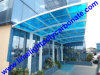 Blue Polycarbonate Roofing、Roof Canopy、Polycarbonate Material Covering、Car Awning、Car CanopyのEntrance Aluminium Frame Canopyの白いAluminium Frame