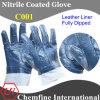 Кожаные перчатки с Nitrile Полный покрытия (C001)